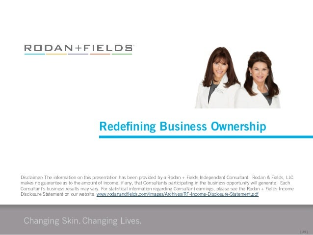Rodan  Fields Business Presentation