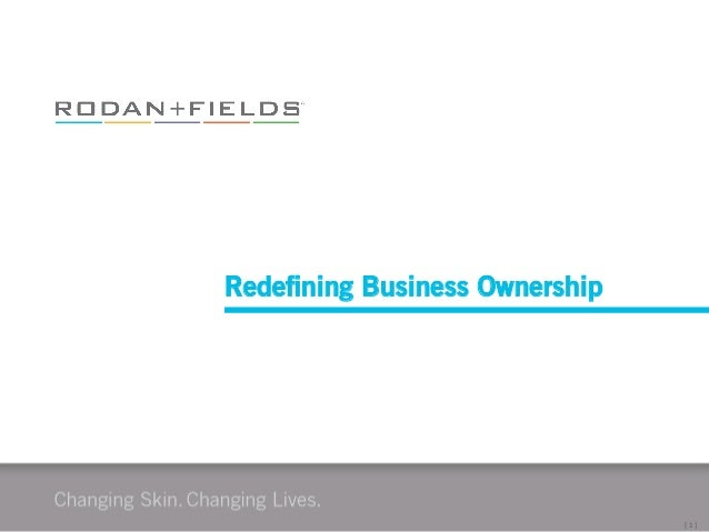 [	   1	   ]	    Redefining Business Ownership