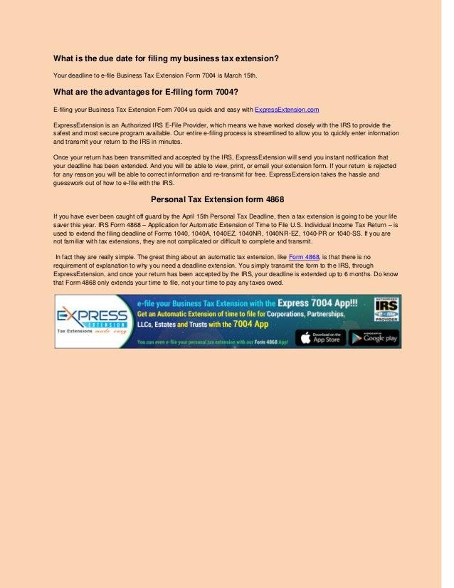 E File Form 7004 Timiznceptzmusic