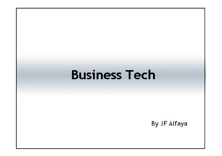 Impact of tech in the business world