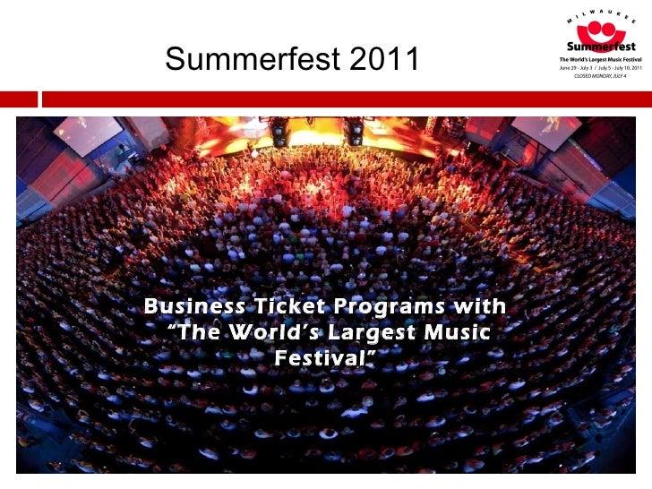 Business Ticket Programs  2011