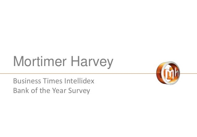 Mortimer Harvey Business Times Intellidex Bank of the Year Survey