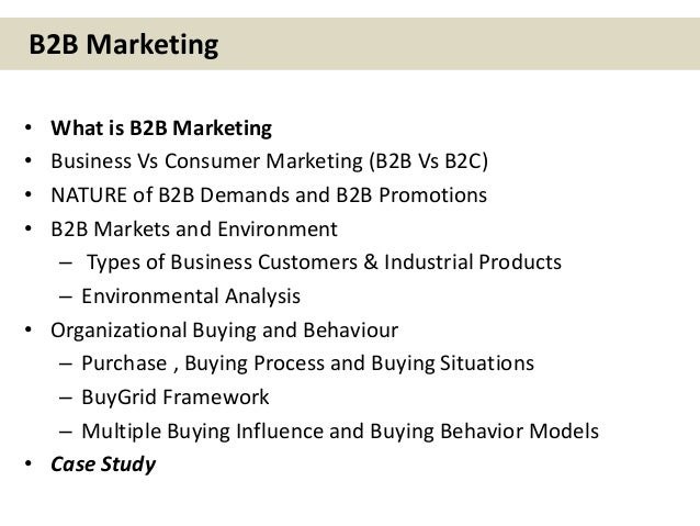 Business to business b2b marketing IMT Ghaziabad CDL