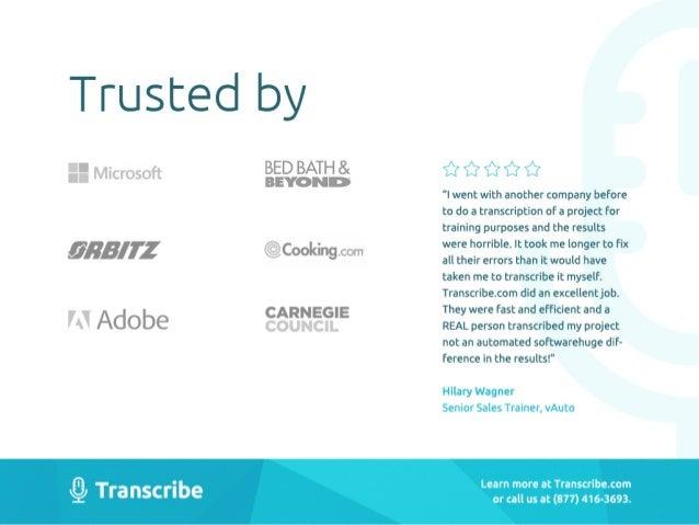 Business transcription simplified!