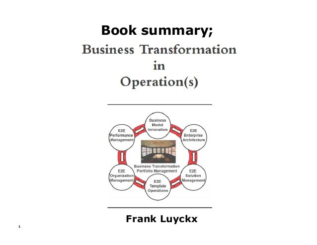 Book summary; 1 Frank Luyckx