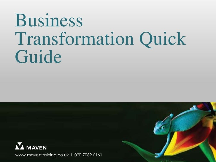 Business Transformation Quick Guide<br />