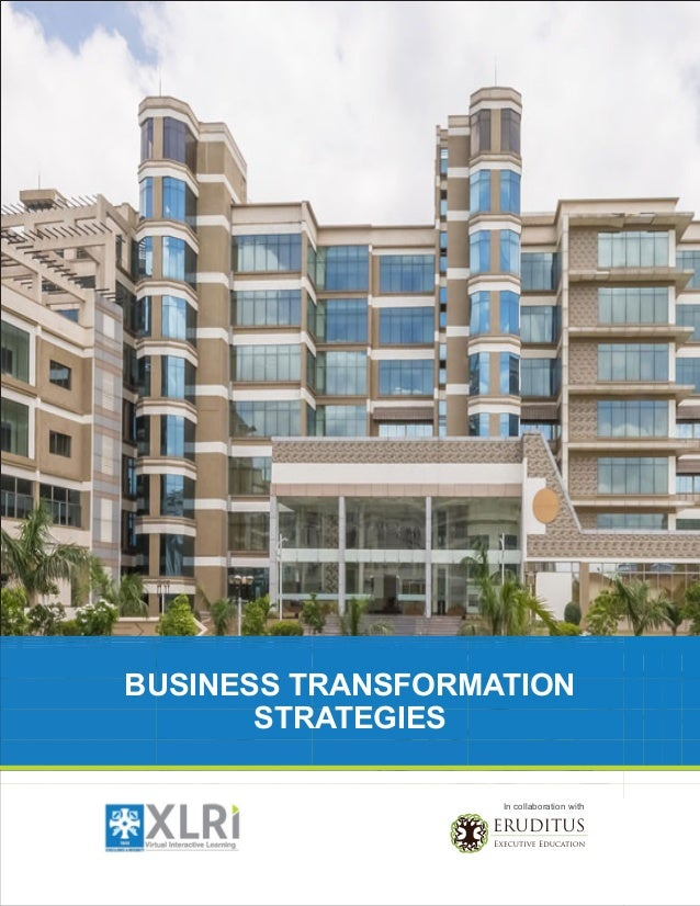 BUSINESS TRANSFORMATION STRATEGIES In collaboration with