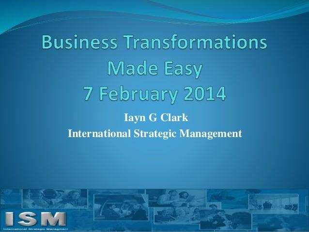 Iayn G Clark International Strategic Management