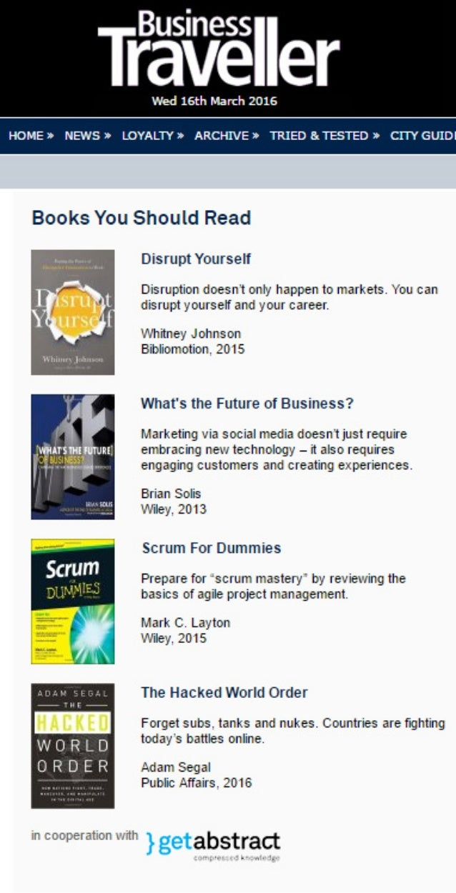 "Business Traveller Features Brian Solis' WTF as a ""Must Read"""