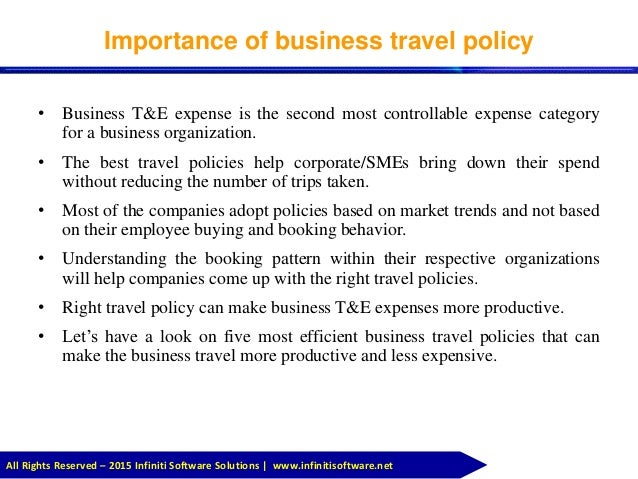 Business Travel Policy