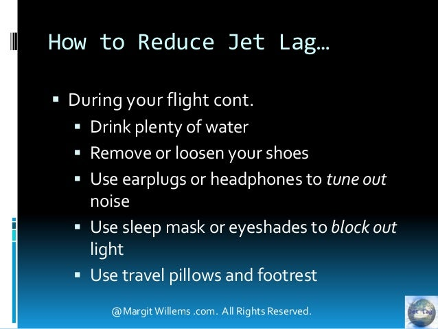 Drink Water To Reduce Jet Lag