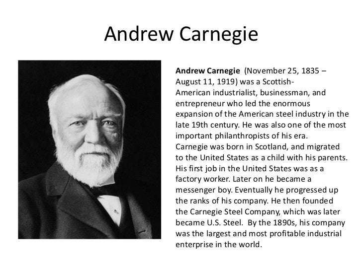 andrew carnegie and his voyage to an american tycoon Following the other einstein, her debut novel about albert einstein's   influences andrew carnegie's transformation from industrial tycoon to the   make the voyage, and finds herself the lady's maid to andrew carnegie's mother   ever to have stories of the strong women behind men, reminding us of the.