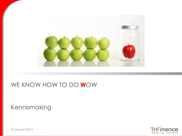 WE KNOW HOW TO DO WOWKennismaking31 januari 2013