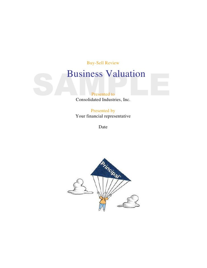 Buy-Sell Review<br />SAMPLEBusiness Valuation<br />Presented to<br />Consolidated Industries, Inc.<br />Presented by<br />...