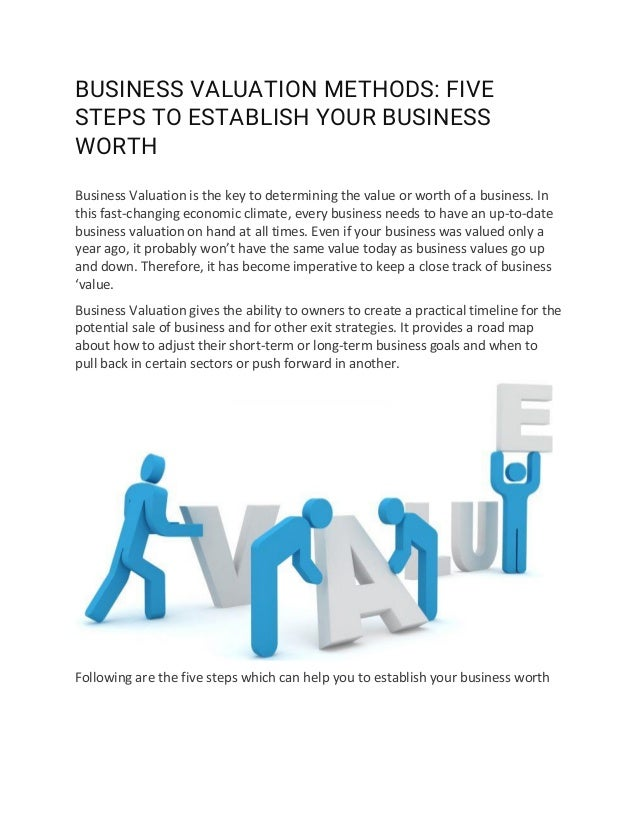 Business Valuation Methods For Small Business