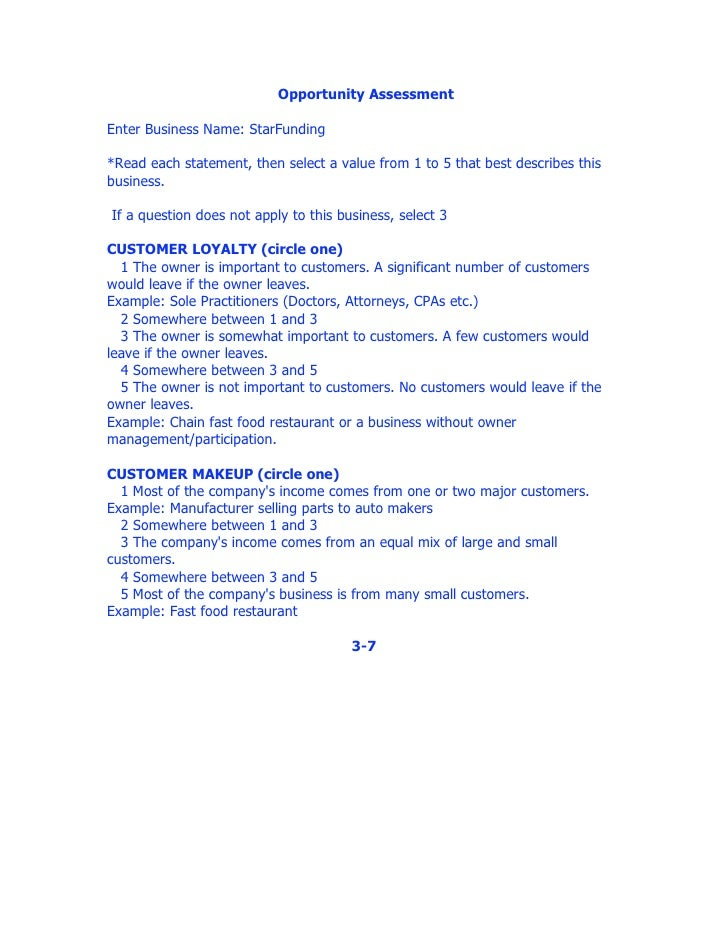 Worksheets Business Valuation Worksheet business valuation worksheet 2 7 3 opportunity assessment enter business