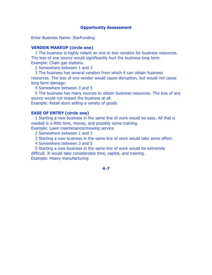 Worksheets Business Valuation Worksheet business valuation worksheet 4 opportunity assessment enter business