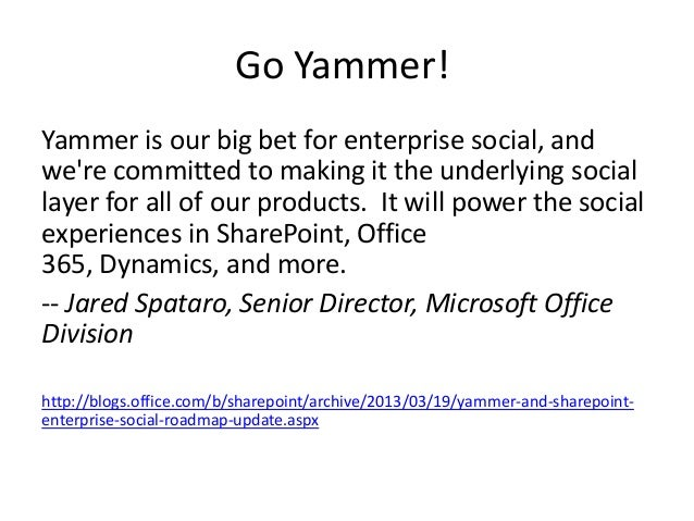 Yammer of the Future…