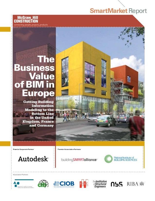 SmartMarketReportPremier Corporate PartnerAssociation PartnersGetting BuildingInformationModeling to theBottom Linein the ...