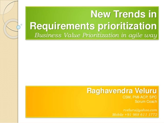 Business value prioritization