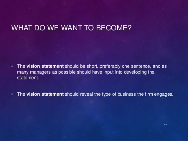 importance of vision and mission statements