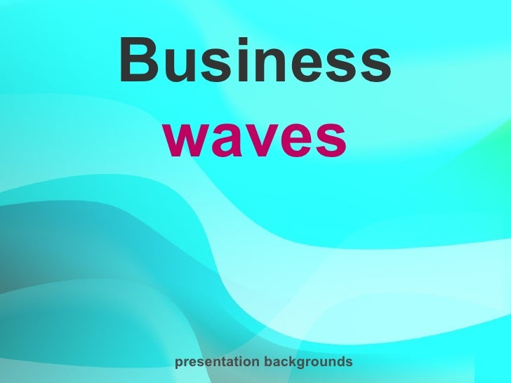 Business waves presentation backgrounds