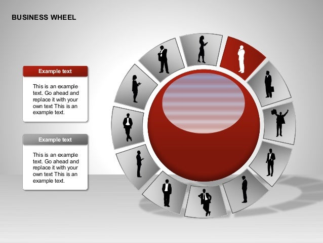 BUSINESS WHEEL This is an example text. Go ahead and replace it with your own text This is an example text. Example text T...
