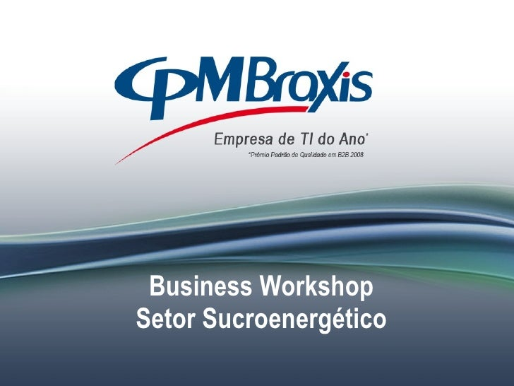 Business Workshop Setor Sucroenergético