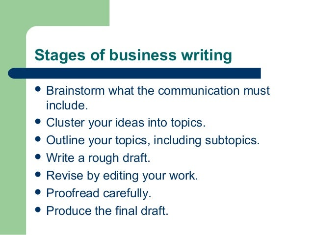 Stages of business writing