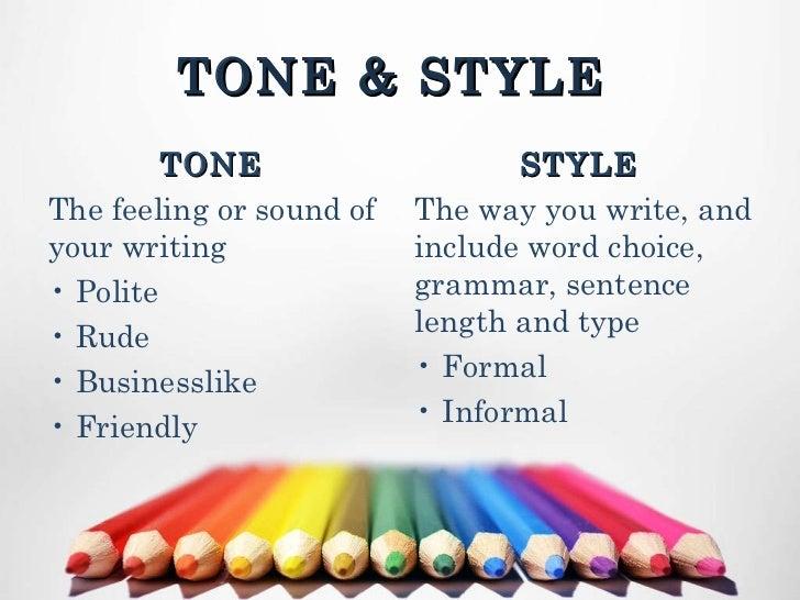 professional tone definition