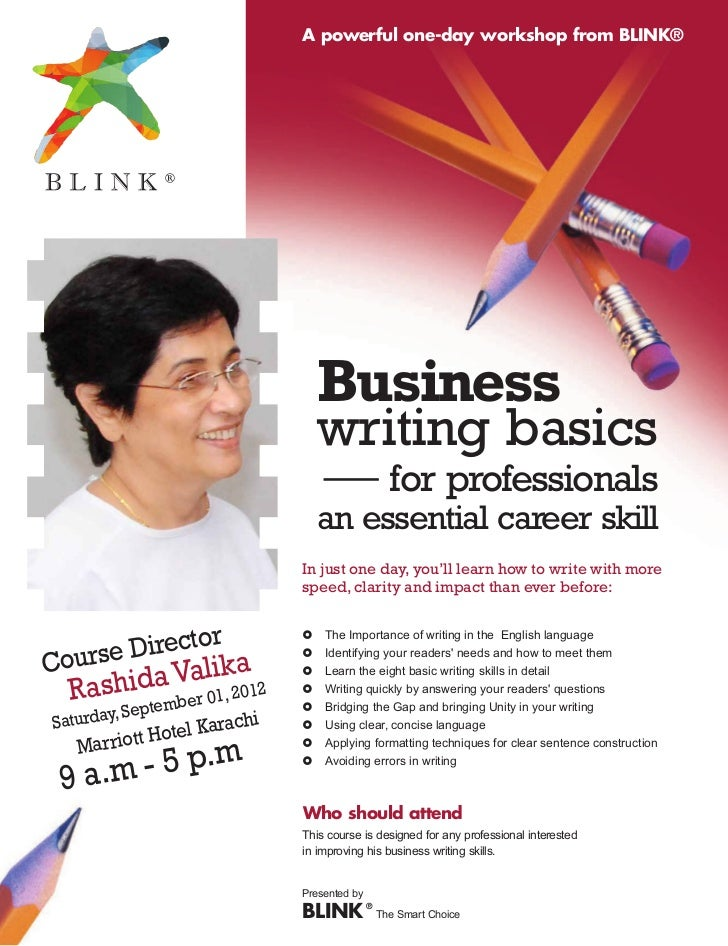 Business Writing Basics A Powerful One Day Workshop From BLINKR