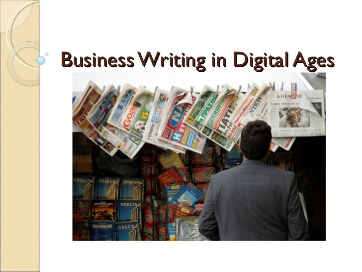 Business Writing in Digital Ages