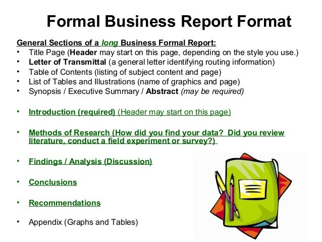 Formal Business Report Format ...