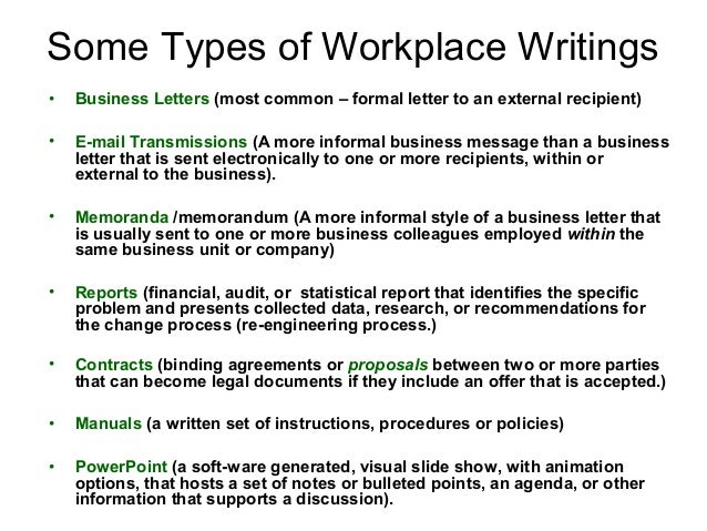 Business writing power point presentation – Type of Business Report