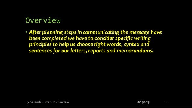business writing principles Video created by university of colorado boulder for the course effective communication capstone project compose a highly polished draft of your memo you'll review the key lessons from business writing so that you have a fresh reminder of the.