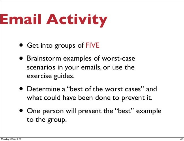 Business Writing: Email and Communication