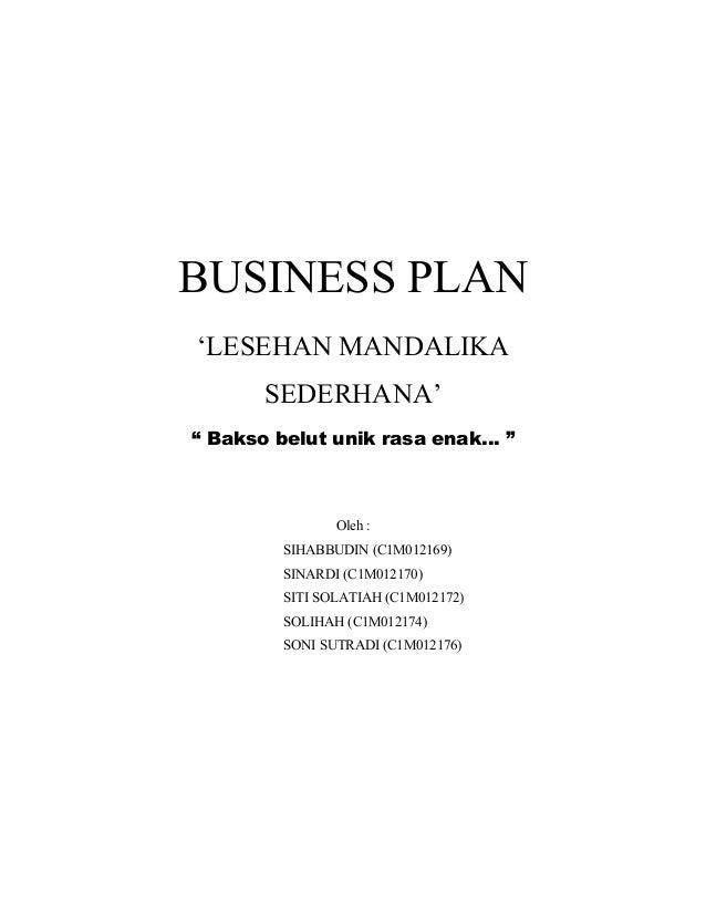 Businnes Plan