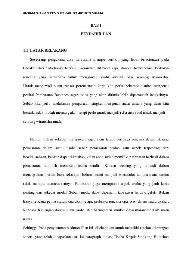 Businnes Plan Kripik Singkong