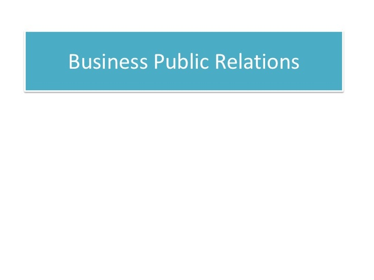 Business Public Relations