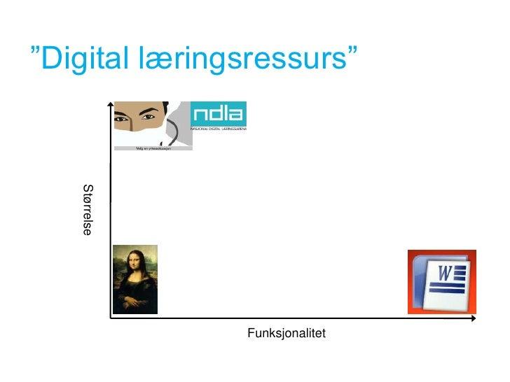 """""""Digital læringsressurs""""    Størrelse                    Funksjonalitet"""