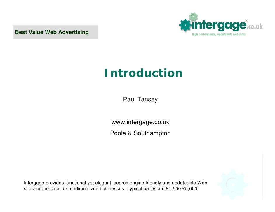 Best Value Web Advertising                                            Introduction                                        ...