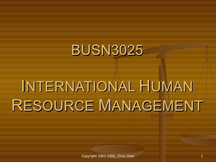 Busn3025 Seminar 1 Introduction To Ihr Ma