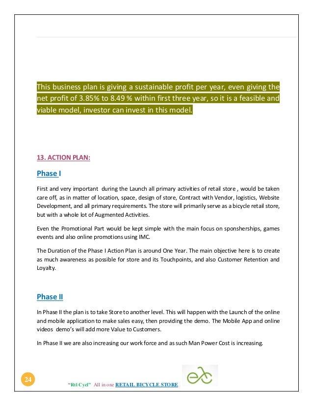 Bike race business plan