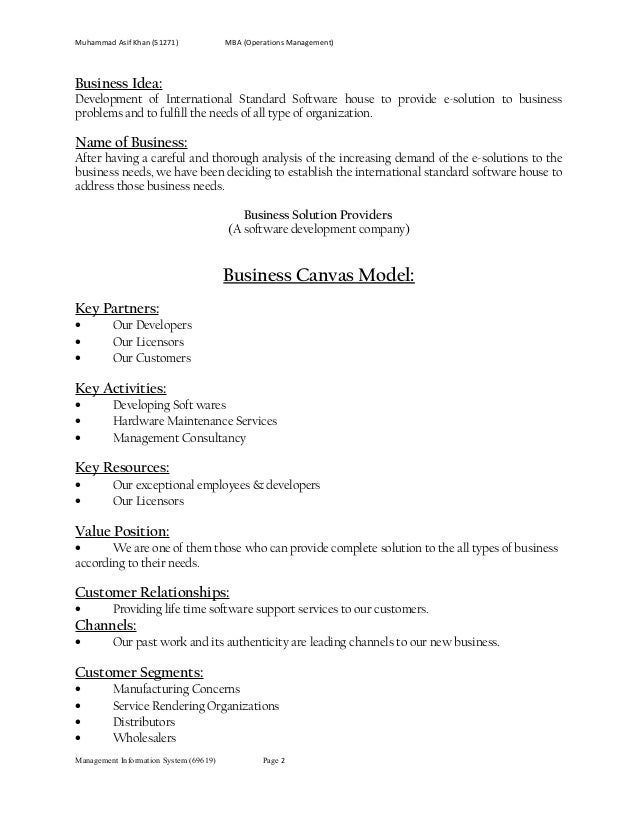 Busniess solution provider ( web site contents)