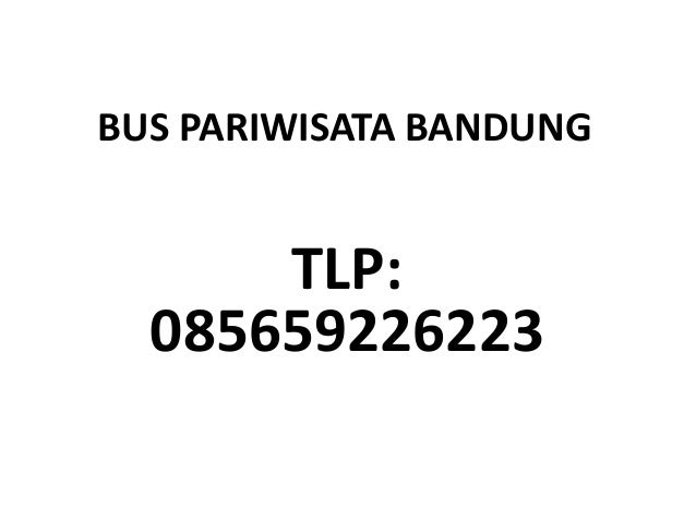 BUS PARIWISATA BANDUNG TLP: 085659226223