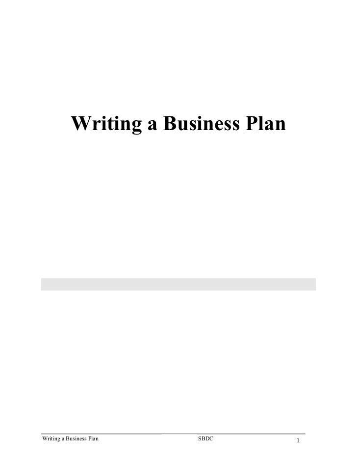 Writing a Business Plan                   Small Business Development Center                         Georgia State Universi...
