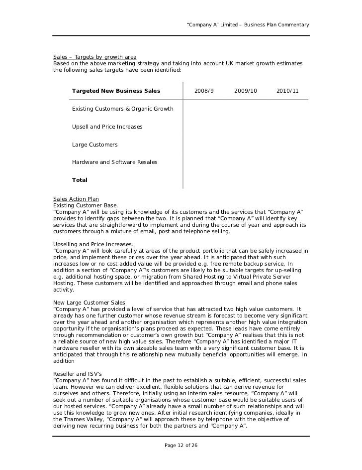 Business plan sample great example for anyone writing a business pl 12 company a limited business plan fbccfo Image collections