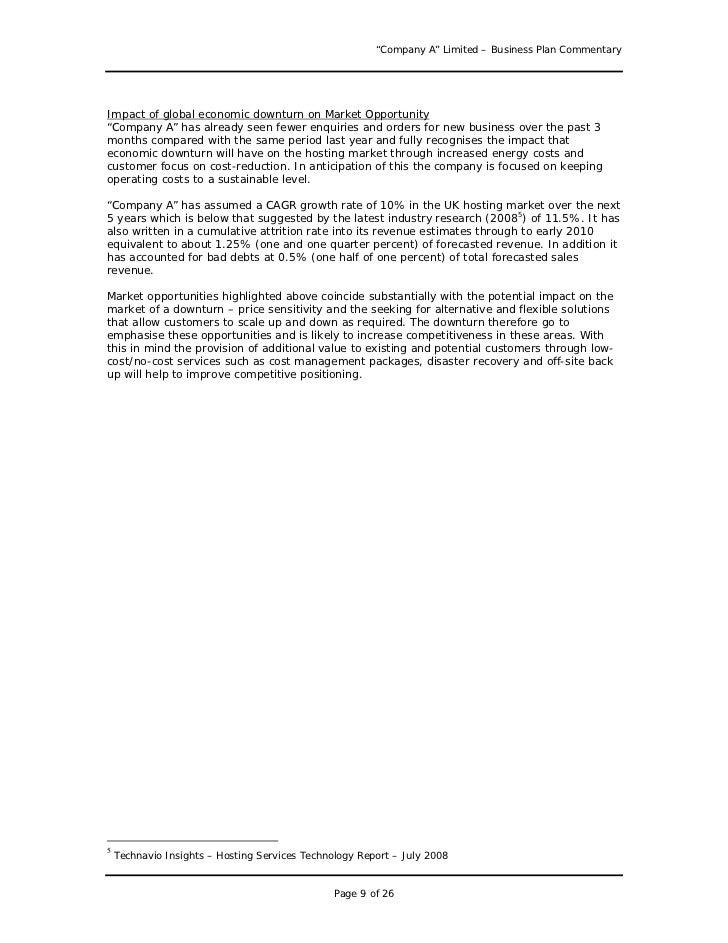... 9. U201cCompany Au201d Limited U2013 Business Plan ...