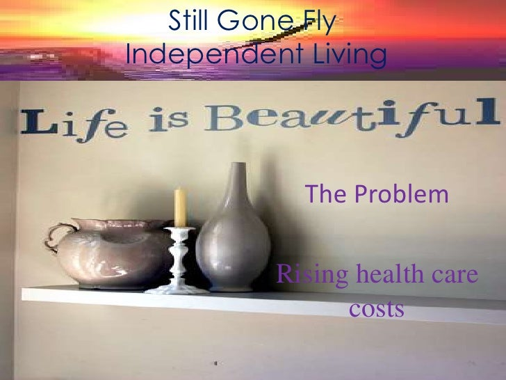 Still Gone Fly<br /> Independent Living<br />The Problem<br />Rising health care costs<br />
