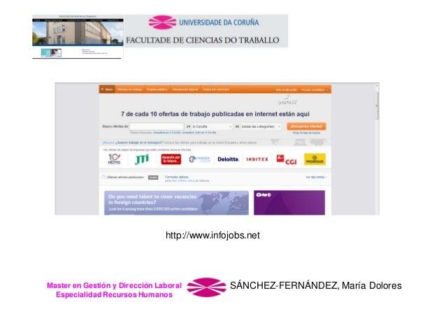 http://www.infojobs.net  Master en Gestión y Dirección Laboral Especialidad Recursos Humanos  SÁNCHEZ-FERNÁNDEZ, María Dol...